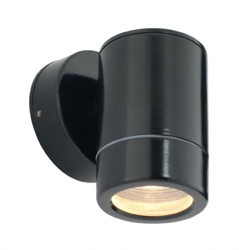 Satin black paint & clear glass Outdoor Wall Light ST5009BK by Endon